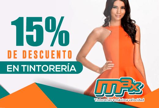 15% de descuento en tintorería