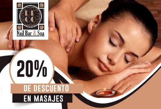 20% de descuento en masajes