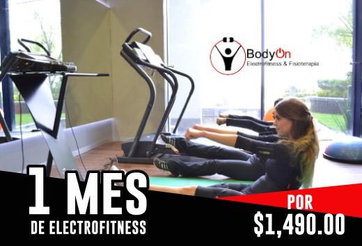 1 mes de Electro-fitness = $1,490