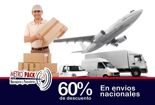 60% de descuento en envíos nacionales