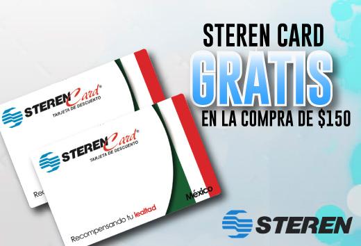 Steren Card GRATIS en la compra de 150 pesos