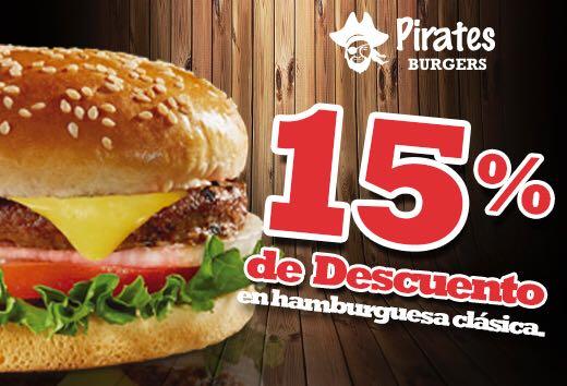 15% de descuento en tu hamburguesa clásica