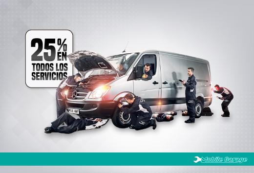 25% de descuentos en todos los servicios