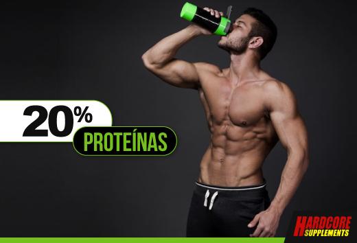 20% en proteínas