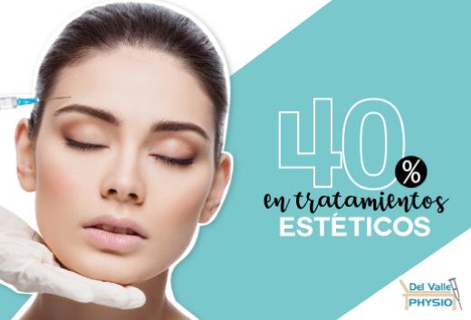 40% de descuento en tratamientos estéticos