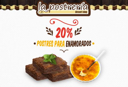 20% en Postres para enamorados: Brownies & Crème Brûlée