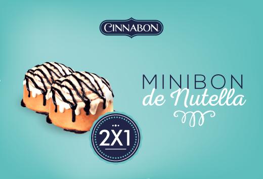 2 x 1 en Minibon de Nutella