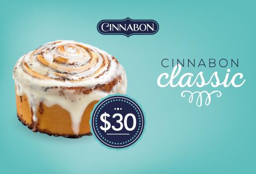 Cinnabon Classic a sólo $30