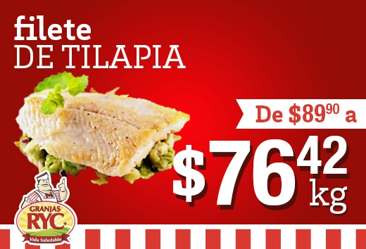 Filete de tilapia al vacío a $76