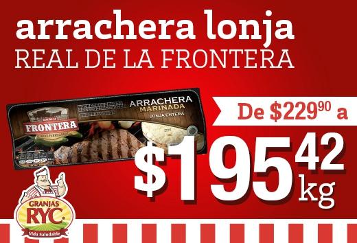 Arrachera lonja Real de la Frontera a $195