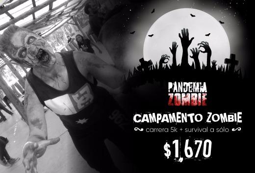 Campamento Zombie + Carrera 5K + Survival a sólo $1,670