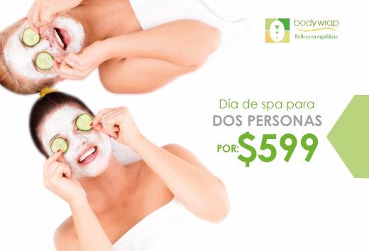 Día de spa para 2 personas por $599