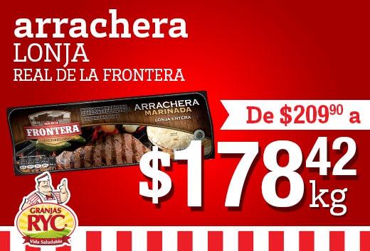 Arrachera lonja Real de la Frontera a $178