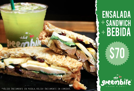 Sandwich + bebida + ensalada = $70
