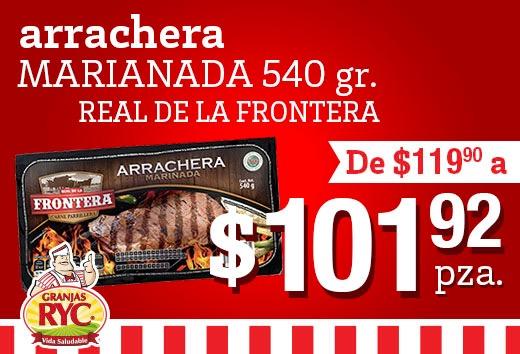 Arrachera marinada a $101