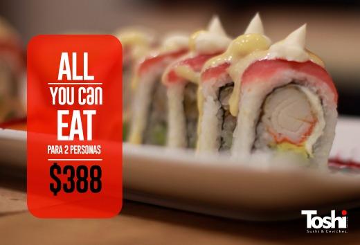 All you can eat para dos personas por $388