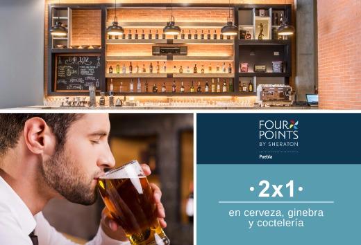2 x 1 en cerveza, ginebra y coctelería