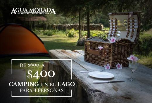 Camping en el lago para 4 por $400