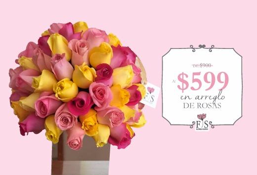 Arreglo de rosas por sólo $599