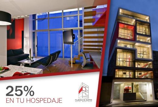 25% en tu hospedaje