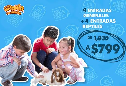 4 entradas generales + 4 entradas reptiles por $799