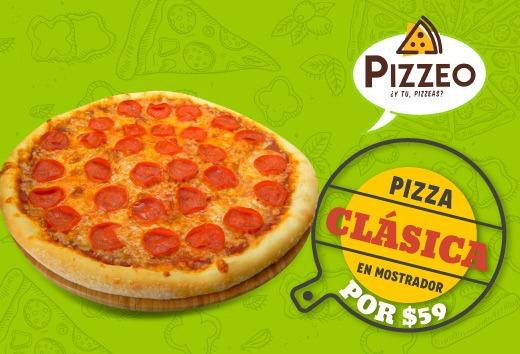 Pizza clásica en mostrador por $59