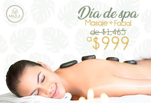 Día de spa: masaje + facial por $999