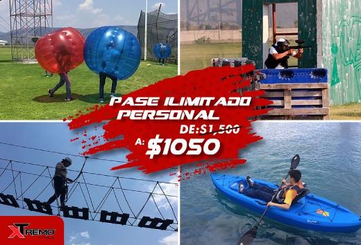 Pase ilimitado personal por $1,050