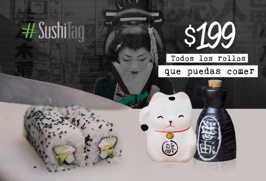 Todos los rollos que puedas comer por $199