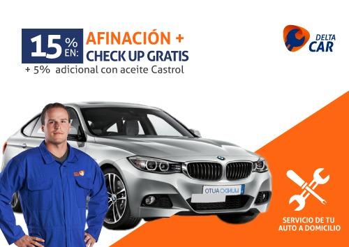 15% en afinación + check up gratis + 5% adicional con aceite