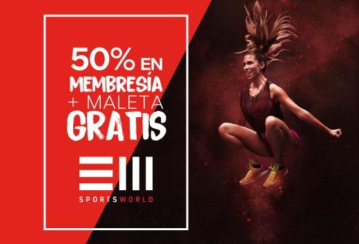 50% en membresía + maleta GRATIS