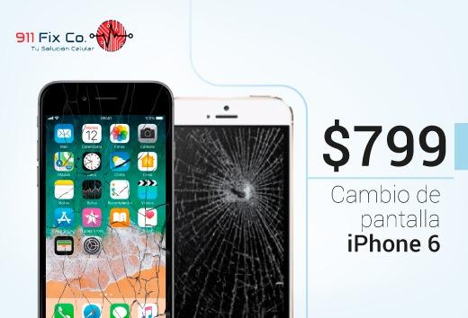 Cambio de pantalla para iPhone 6  por $799