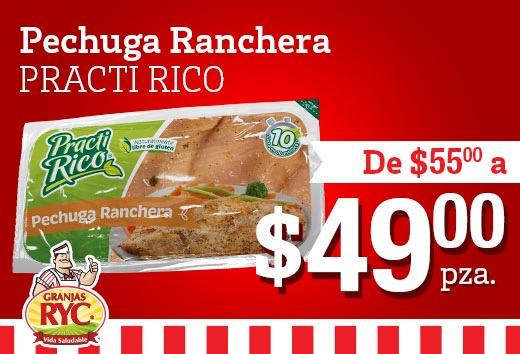 Pechuga ranchera por $49