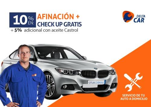 10% en afinación + check up gratis + 5% adicional con aceite