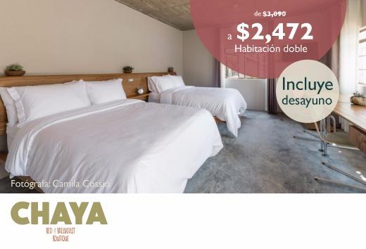 Habitación doble por sólo $2,472
