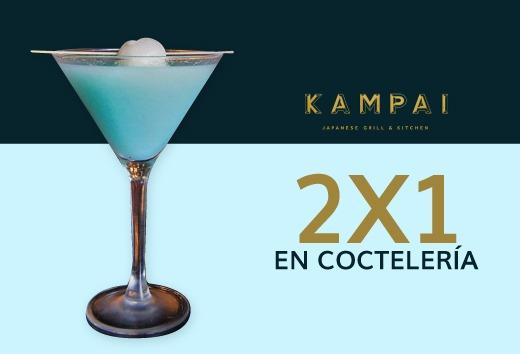 2 x 1 en coctelería
