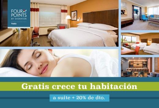 Gratis crece tu habitación a suite + 20% de descuento