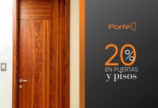 20% en puertas y pisos laminados