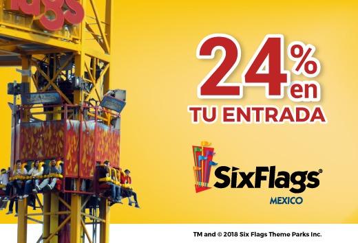 24% en tu entrada a Six Flags