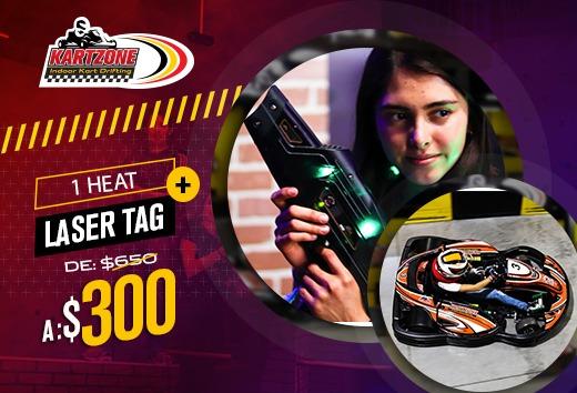 Karztone 1 heat + 1 batalla laser tag por sólo $300