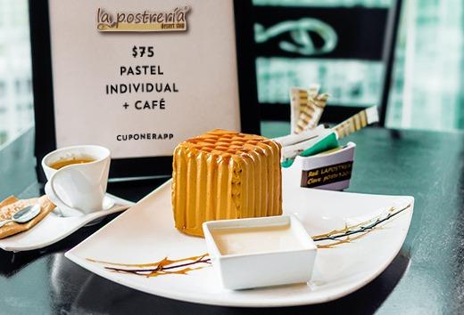 Pastel individual + café por $75