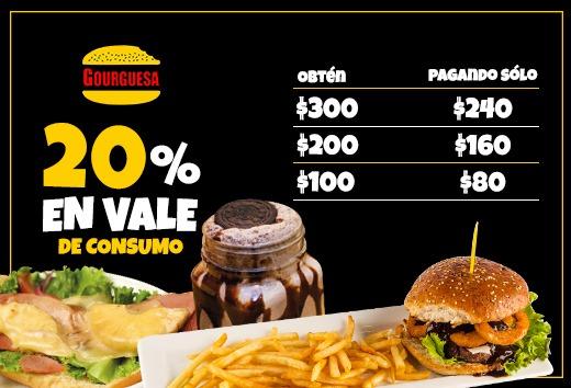 20% en vale de consumo