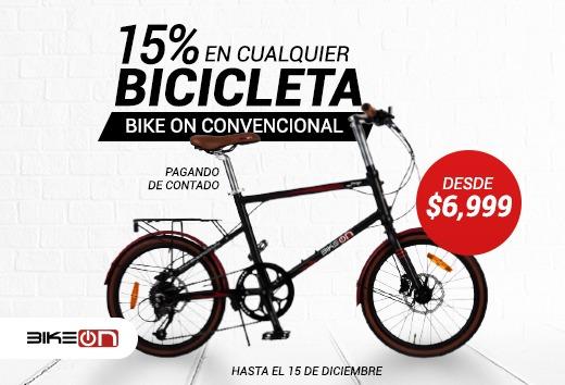 15% en cualquier bicicleta convencional