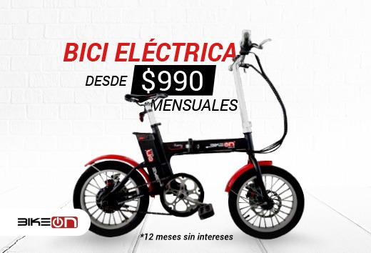 Bici eléctrica desde $990 mensuales