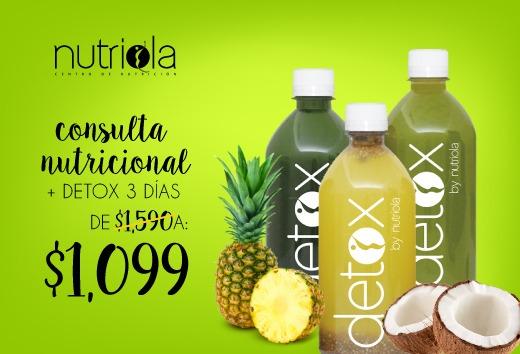 3 días de jugoterapia detox +consulta nutricional por $1,099