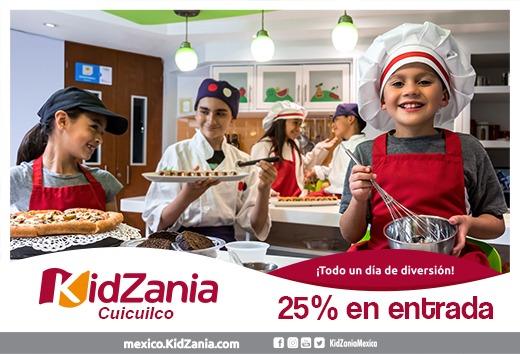 25% en tu entrada a KidZania Cuicuilco