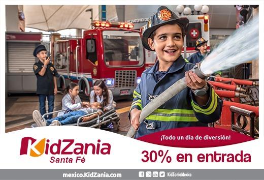 30% en tu entrada a KidZania Santa Fé