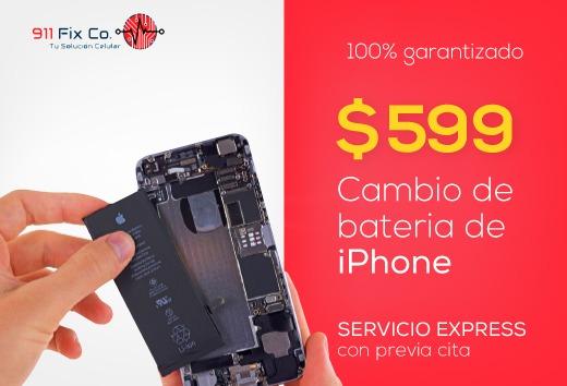 Cambio de batería de iPhone por $599