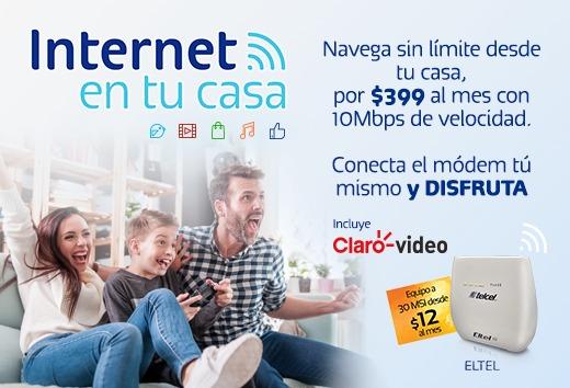 Internet en tu casa por $399