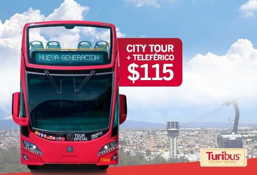 Citytour + Teleférico a sólo $115 en Turibus Puebla